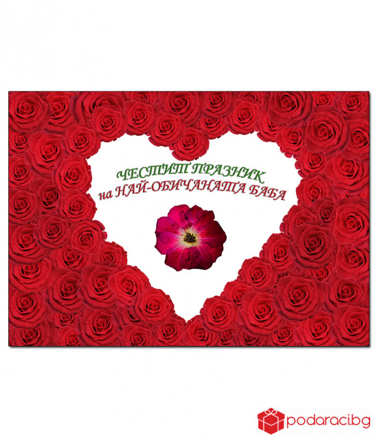 Real Red rose for granny in a frame
