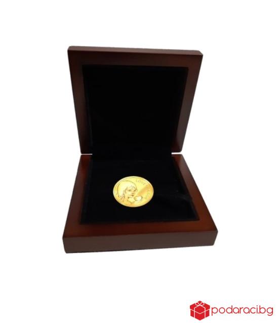 Сребърен медал Талисман Любов, с масивно златно покритие