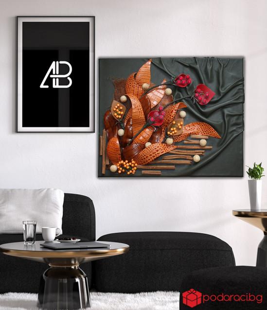 Картина от естествена кожа 40х42 см