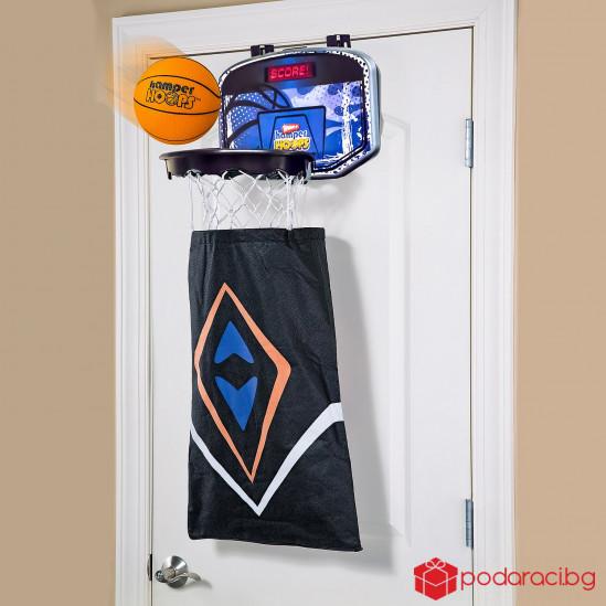 Баскетболен кош за пране на дрехи.