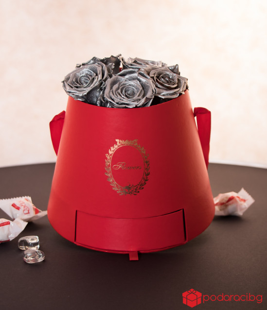 Gift box for the Ladies Red & Silver
