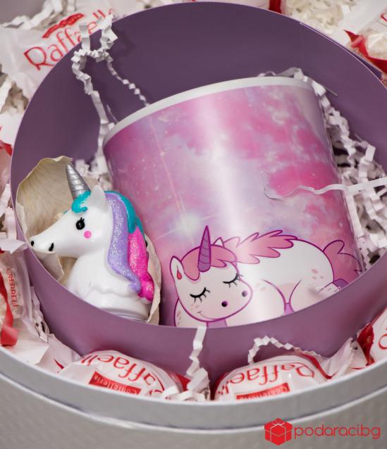 Дамски комплект Еднорог или Фламинго с чаша