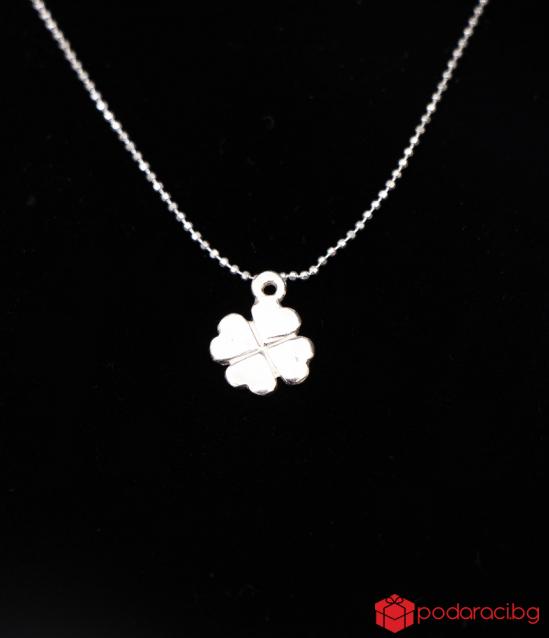 Silver Necklace Detelinka