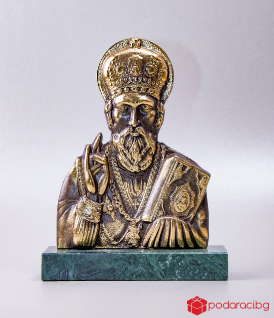 Бронзова статуетка Свети Николай Чудотворец