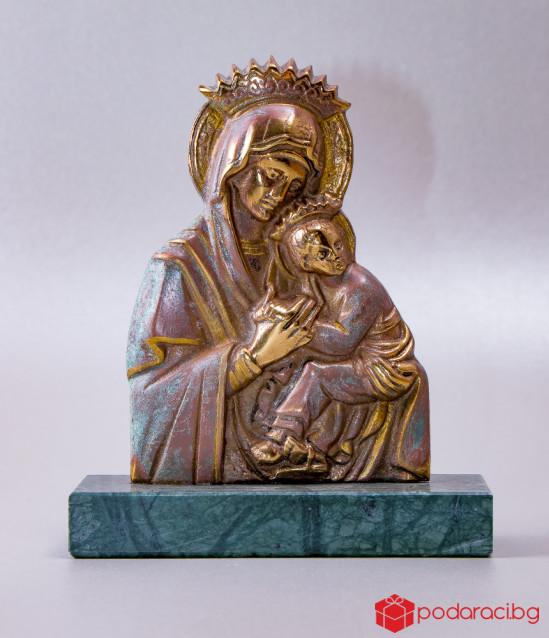 Бронзова статуетка Богородица с Исус