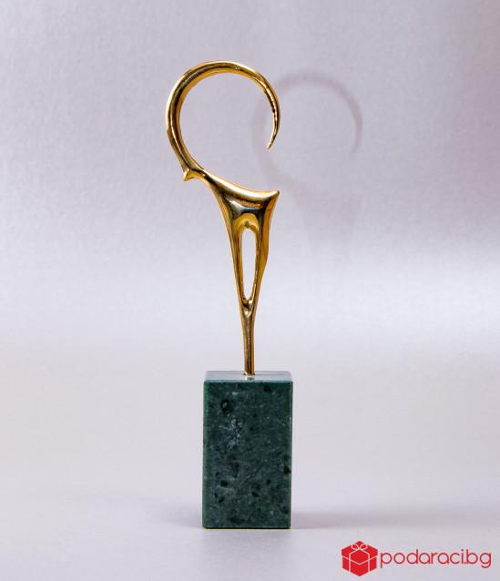 Бронзова статуетка Козирог, малък