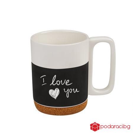 Порцеланова чаша с послание