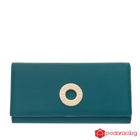 Дамско портмоне езерово синьо  ROSSI