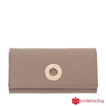 Дамско портмоне цвят капучино ROSSI