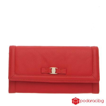Дамско портмоне в ягодово червено ROSSI