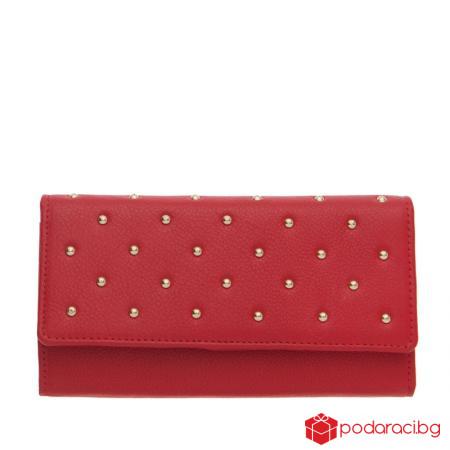 Дамско портмоне наситено червен цвят ROSSI