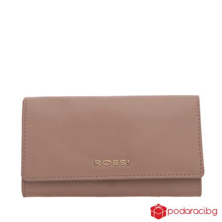 Класическо дамско портмоне в перлено розово ROSSI
