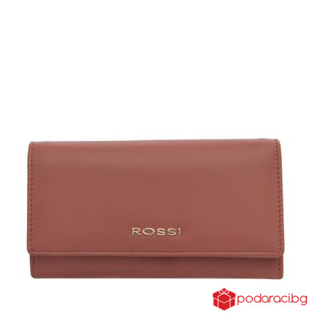 Класическо дамско портмоне пепел от рози ROSSI