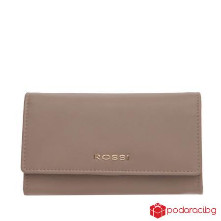 Класическо дамско портмоне цвят капучино ROSSI