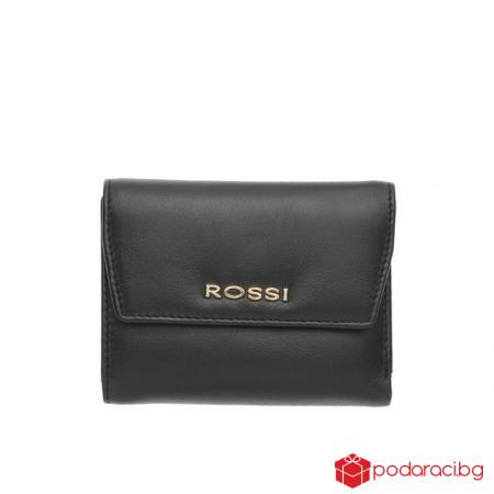 Дамски портфейл в черно - ROSSI