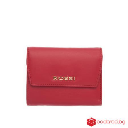 Дамски портфейл в цвят корал - ROSSI