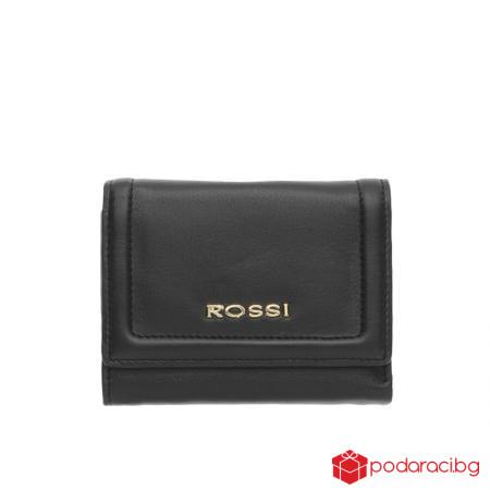 Стилно дамско портмоне в черно - ROSSI