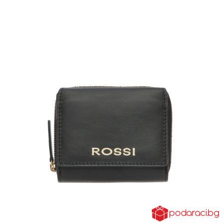 Дамско портмоне в черно - ROSSI