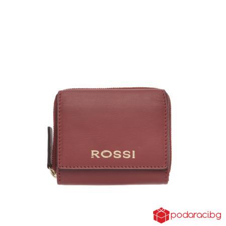 Малко дамско портмоне във винено червено - ROSSI