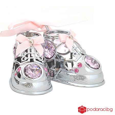 Бебешки обувчици розови
