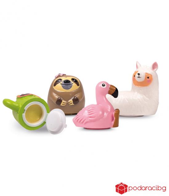 Lip balm with figurines