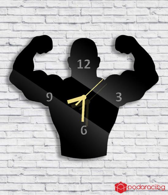 Fitness clock, wall mounted