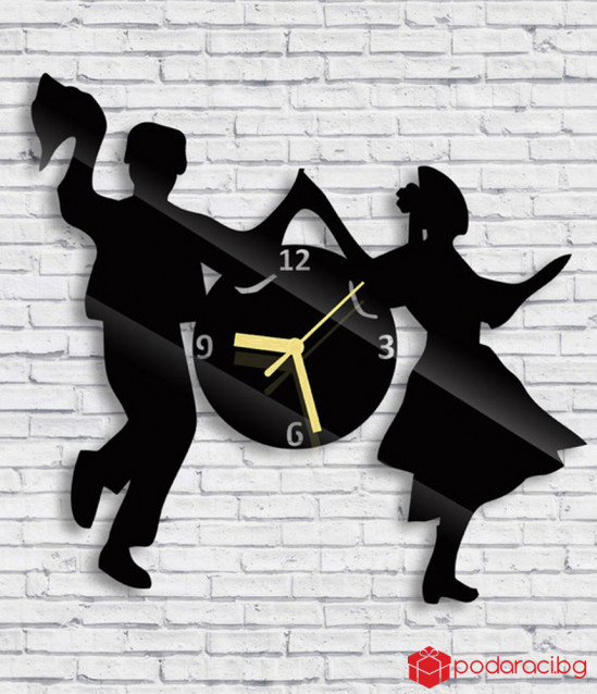 Clock folk dances, wall