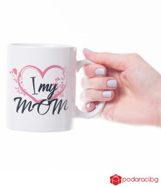 Ceramic mug I Love My Mom