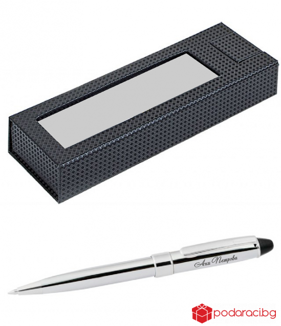 Engraved compact pen in a luxury box