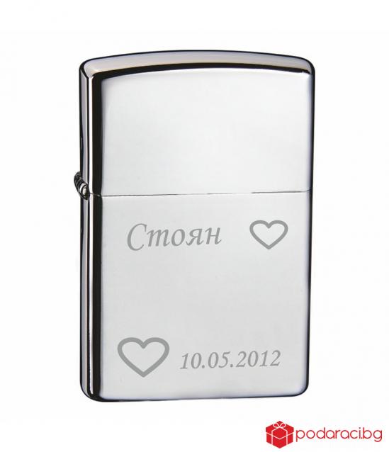 Engraved lighter TEAM PISTOL-glossy surface