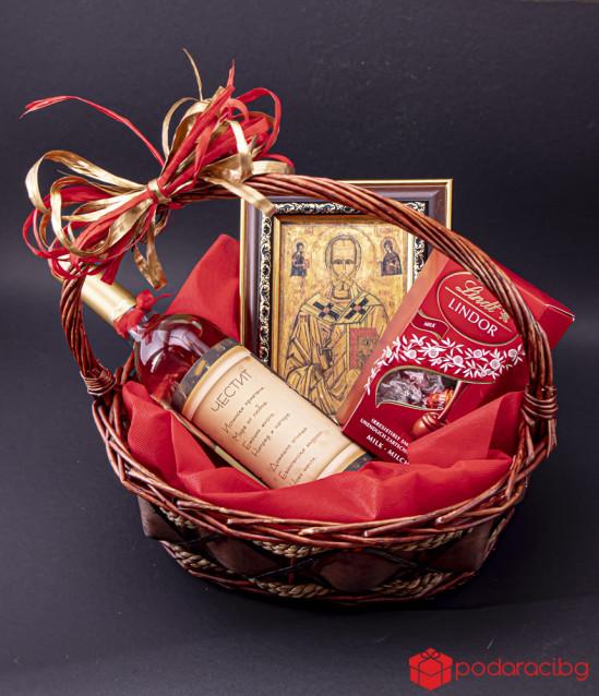 Персонализирана кошница Свети Николай Чудотворец