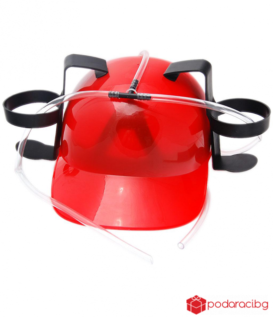 Helmet for drinks