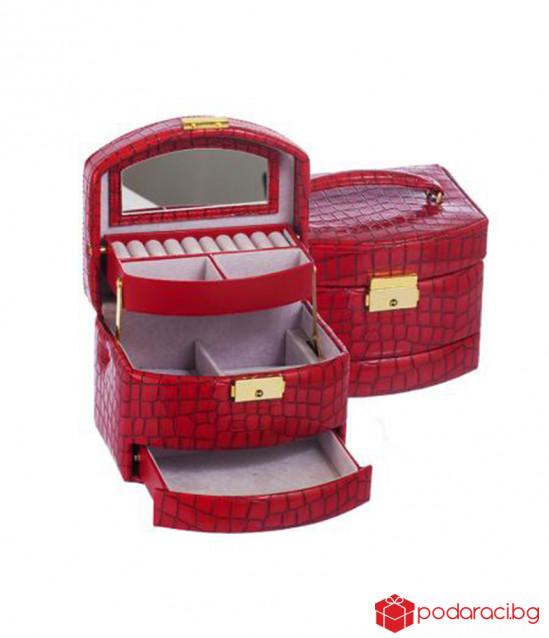 Кутия за бижута Red Crocodile средна