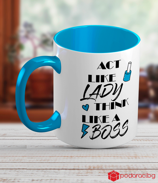 Ceramic cup for woman-boss