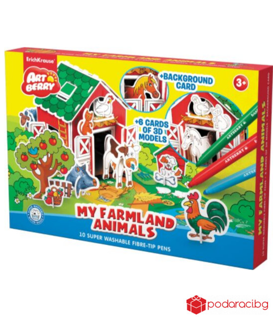"Комплект ""My Farmland Animals"" + 10 флумастера"
