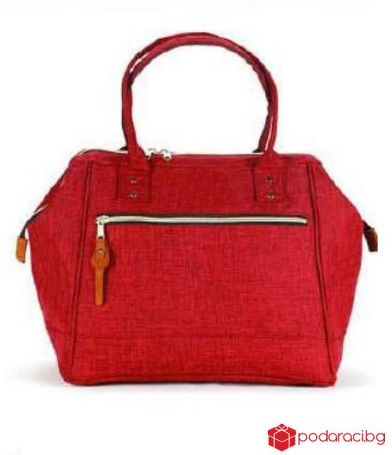 Червена дамска чанта Street Elegant