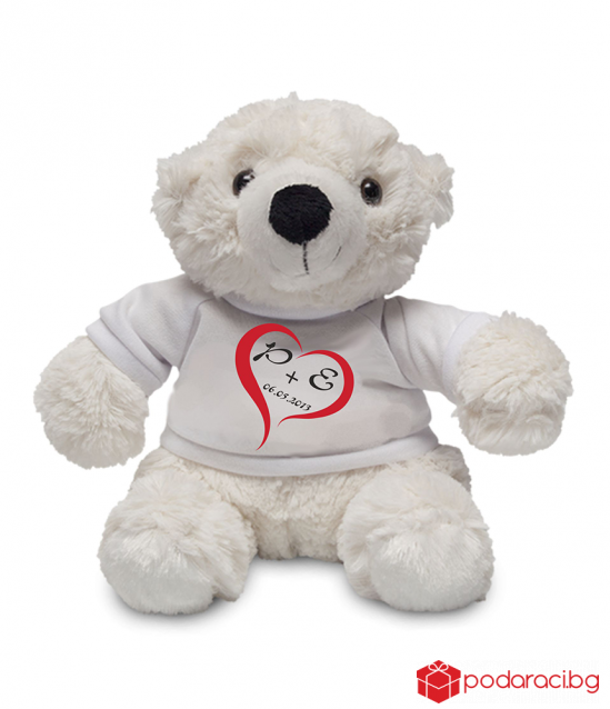 Teddy bear toy with your initials