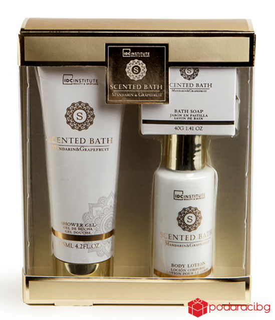 Bathroom gift set with Mandarin and grapefruit