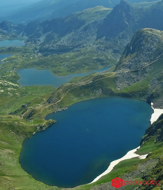 Flying over the Rila Lakes