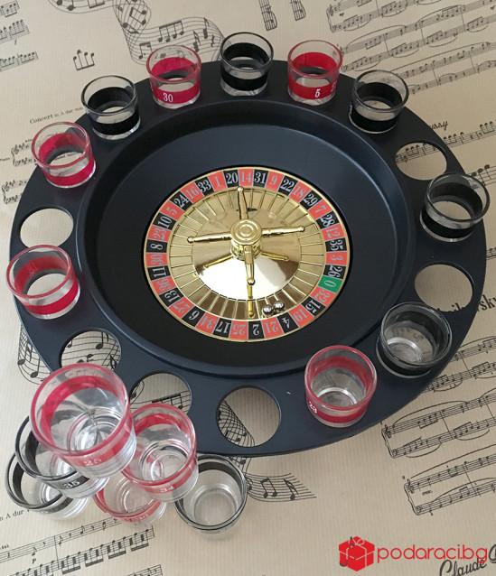 Рулетка за пиещи с 16 чашки
