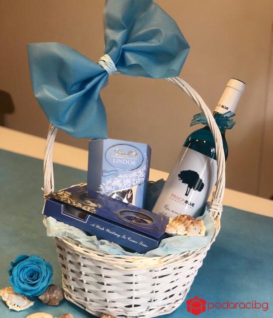 Подаръчна кошница за жена Морска фантазия