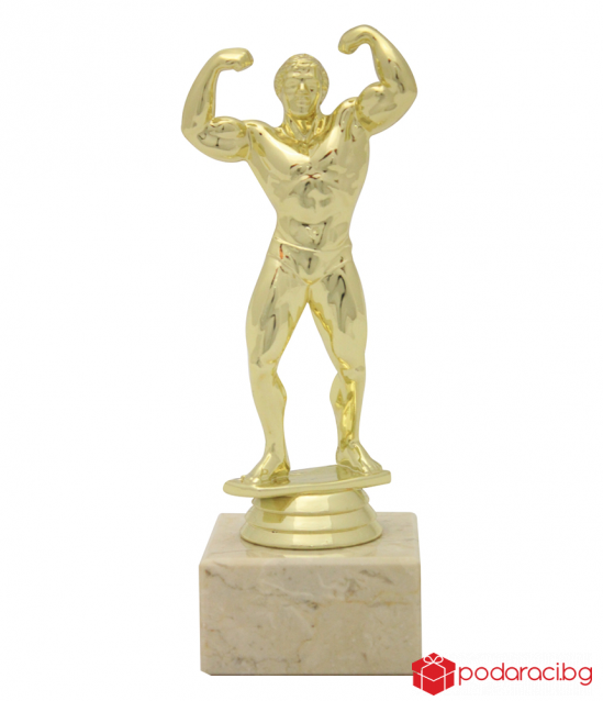Statuette Fitness-Man with engraved plaque