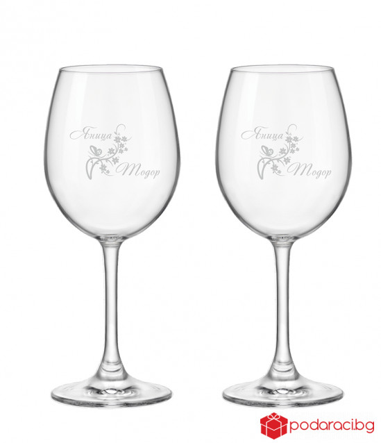 Гравирани чаши за младоженци