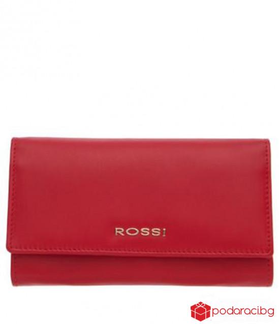 Дамско портмоне наситено червено ROSSI