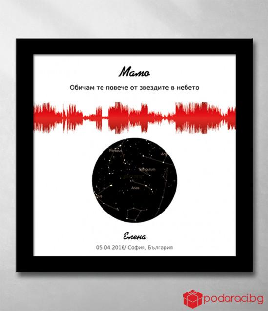 Звезден комплект със звуково послание в червено