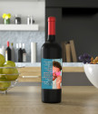 Wine with a label for him with your photo and text