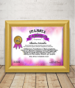 Diploma for the best grandmother with a gift frame