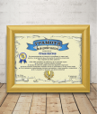 Diploma for Best colleague with a gift frame