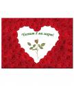 Истинска червена роза в рамка за 8 март