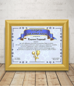 Diploma for Best dad with gift frame